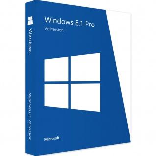 Microsoft Windows 8.1 Professional Vollversion MS Win8 W8 Windows 8 Pro 32/64Bit Deutsch