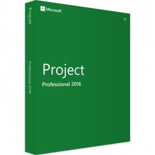 Microsoft Project 2016 Professional Vollversion MS Pro 32/64Bit Deutsch