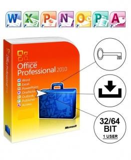 Microsoft Office 2010 Professional PLUS Vollversion MS Pro 32/64Bit Deutsch