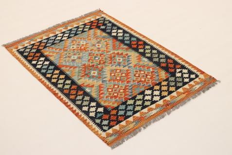 Rugeast KELIM Teppich 140 x 100 cm Schurwolle Handgewebt - Vorschau 2