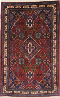 Rugeast Orientteppich Meymeh 154 × 96 Rot Schurwolle Medaillon Handgeknüpft