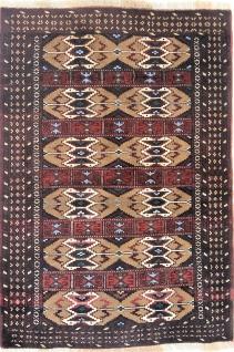 Rugeast Orientteppich Handgeknüpfte Turkaman 126×87cm
