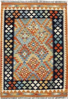 Rugeast KELIM Teppich 140 x 100 cm Schurwolle Handgewebt