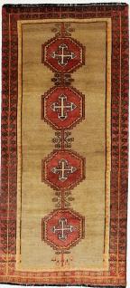 Rugeast Orientteppich Handgeknüpfte Qashqai Shiraz 252 x 116 cm