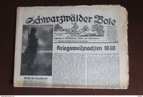 Schwarzwälder Bote; Oberndorf a. N. Weihnachten 24.12.1940; Original-Tageszeitung