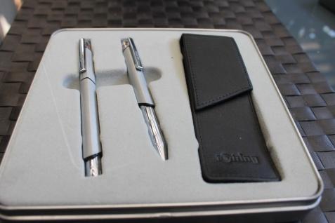 Rotring Schreibset, Schreibgarnitur: Füllhalter mit M-Feder und Kugelschreiber in OVP