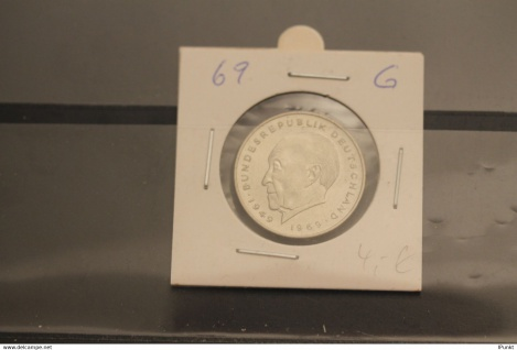Bundesrepublik Deutschland, Kursmünze: 2 Deutsche Mark; Konrad Adenauer; 1969 G, Jäger-Nr. 406, stg