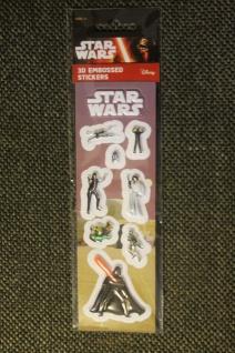 Star Wars-Sticker; 3D-Sticker; 3-D Embossed Stickers; Star Wars - Aufkleber (5)