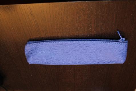 Mäppchen für Schreibgeräte; Etui für Schreibgeräte, blau