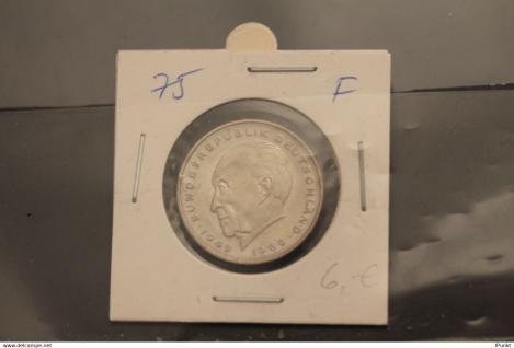 Bundesrepublik Deutschland, Kursmünze: 2 Deutsche Mark; Konrad Adenauer; 1975 F, Jäger-Nr. 406, stg