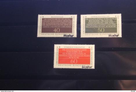 Deutschland BRD Grundgedanken der Demokratie 1981 mit Musterstempel; Muster-Marke