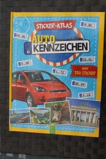 """Sticker-Atlas """" Auto-Kennzeichen""""; Stickerbuch mit 250 Sticker"""
