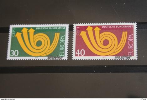 Deutschland BRD EUROPA-Marken 1973 mit Muster-Stempel; Muster-Marke