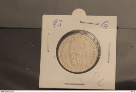 Bundesrepublik Deutschland, Kursmünze: 2 Deutsche Mark; Kurt Schumacher; 1993 G, Jäger-Nr. 424, stg
