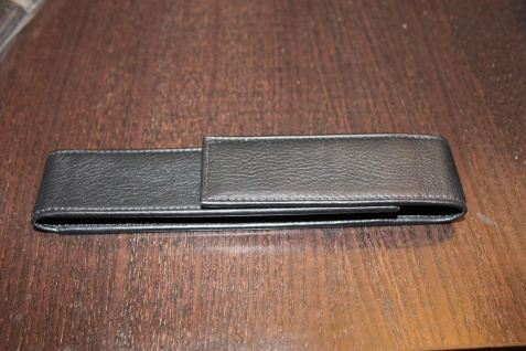 Mäppchen für 1 Schreibgerät; Etui für 1 Schreibgerät, schwarz, Magnetverschluß