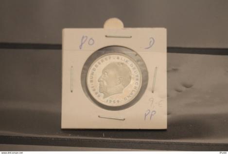 Bundesrepublik Deutschland, Kursmünze: 2 Deutsche Mark; Konrad Adenauer; 1980 D, Jäger-Nr. 406, stg