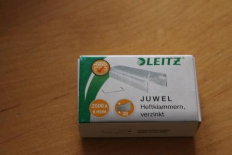 Heftklammern Leitz Juwel, 6mm; 1000 Stück