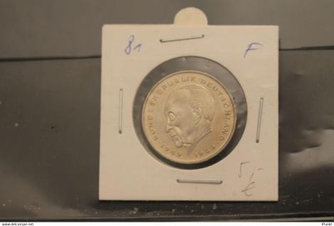 Bundesrepublik Deutschland, Kursmünze: 2 Deutsche Mark; Konrad Adenauer; 1981 F, Jäger-Nr. 406, stg