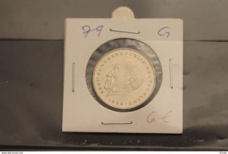 Bundesrepublik Deutschland, Kursmünze: 2 Deutsche Mark; Konrad Adenauer; 1979 G, Jäger-Nr. 406, stg