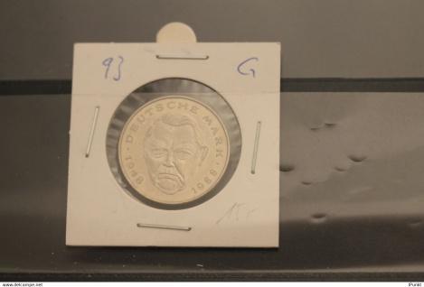 Deutschland; 2 Deutsche Mark Gedenkmünze: Ludwig Erhard, Jäger-Nr. 445, stg, 1993 G