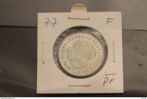Bundesrepublik Deutschland, Kursmünze: 2 Deutsche Mark; Theodor Heuss; 1977 F, Jäger-Nr. 407, PP