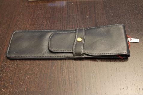 Mäppchen für 2 Schreibgeräte; Etui für 2 Schreibgeräte, schwarz