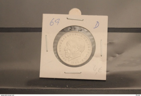 Bundesrepublik Deutschland, Kursmünze: 2 Deutsche Mark; Konrad Adenauer; 1969 D, Jäger-Nr. 406, stg