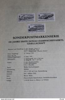 Österreich Amtl. Schwarzzdruck auf Schwarzdruckblatt 1979 zur Ausgabe: Erste Donau-Dampfschiffahrts-Gesellschaft
