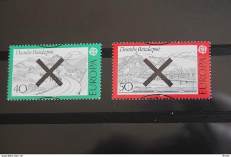 Deutschland BRD EUROPA-Marken 1977 mit Andreaskreuz
