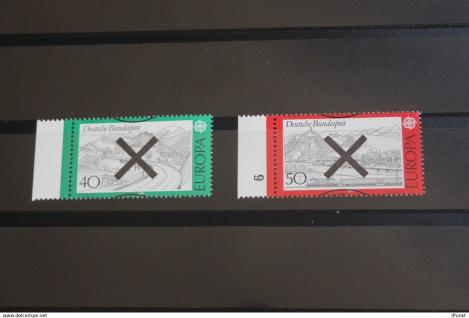 Deutschland BRD EUROPA-Marken 1977 mit Andreaskreuz; mit linkem Seitenrand