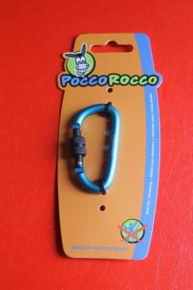 Schlüsselanhänger Pocco Rocco Karabiner, blue