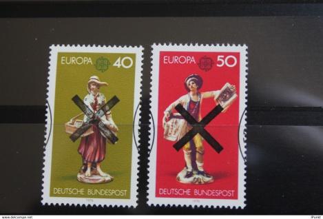 Deutschland BRD EUROPA-Marken 1976 mit Andreaskreuz