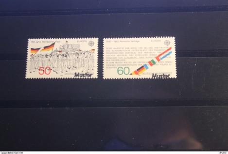 Deutschland BRD EUROPA-Ausgabe 1982 mit Musterstempel; Muster-Marke