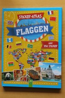 """Sticker-Atlas """" Flaggen""""; Stickerbuch mit 250 Sticker"""