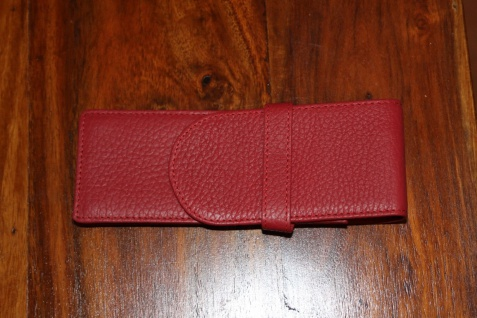 Mäppchen für 3 Schreibgeräte; Etui für 3 Schreibgeräte, rot