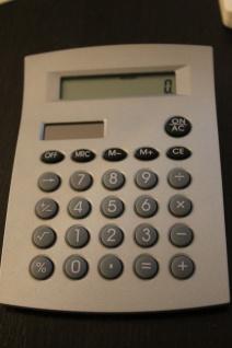 Tischrechner, Kalkulator, Taschenrechner, Nickel mattiert; B-Ware