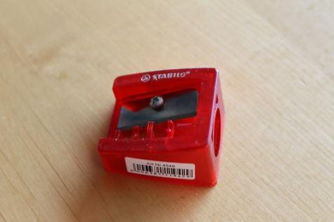Anspitzer; Spitzer für extra dicke Stifte, rot