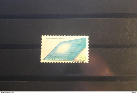 Deutschland BRD Energieforschung 1981 mit Musterstempel; Muster-Marke