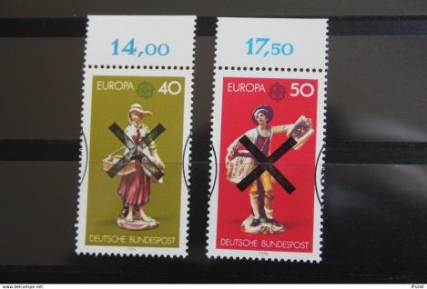 Deutschland BRD EUROPA-Marken 1976 mit Andreaskreuz; mit Oberrand