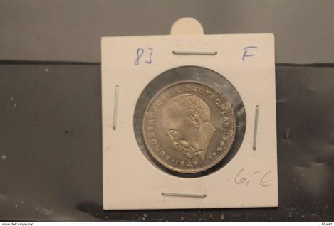 Bundesrepublik Deutschland, Kursmünze: 2 Deutsche Mark; Konrad Adenauer; 1983 F, Jäger-Nr. 406, stg