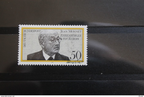 Deutschland BRD Jean Monnet 1977 mit Musterstempel; Muster-Marke