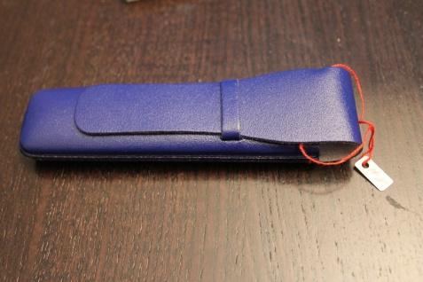Mäppchen für 1 Schreibgerät; Etui für 1 Schreibgerät, dkl.-blau