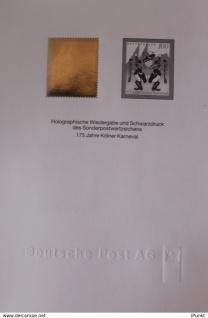 Deutschland, Hologramm-Marke des Ausgabe: Kölner Karneval; 4.2.1997; MiNr. 1903