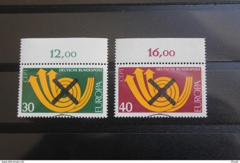 Deutschland BRD EUROPA-Marken 1973 mit Andreaskreuz; mit Oberrand