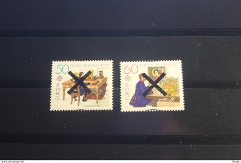 Deutschland BRD EUROPA-Marken 1979 mit Andreaskreuz