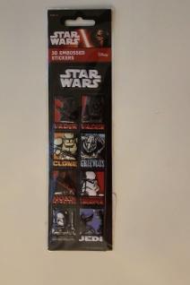 Star Wars-Sticker; 3D-Sticker; 3-D Embossed Stickers; Star Wars - Aufkleber (11)