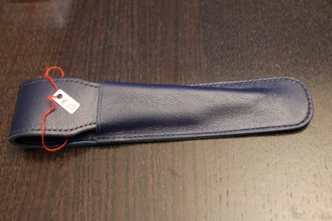 Mäppchen für 1 Schreibgerät; Etui für 1 Schreibgerät; dunkl.-blau