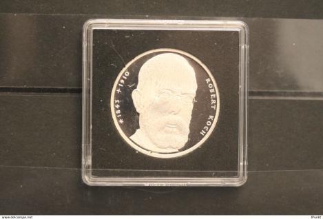 Bundesrepublik Deutschland; 10 Deutsche Mark; 1993/94; Robert Koch, Silber; PP; Jäger-Nr. 456