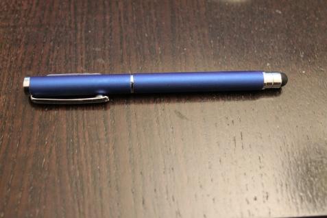 Touch Pen Kugelschreiber, blau-metallic