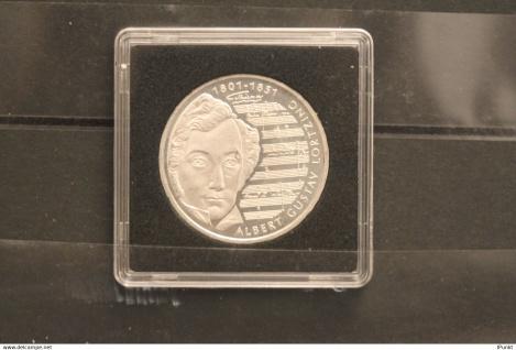 Bundesrepublik Deutschland; 10 Deutsche Mark; 2001; Albert Lortzing, Silber; stg; Jäger-Nr. 478